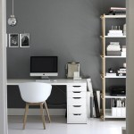 A gray home office