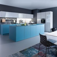 Kitchen: white and blue