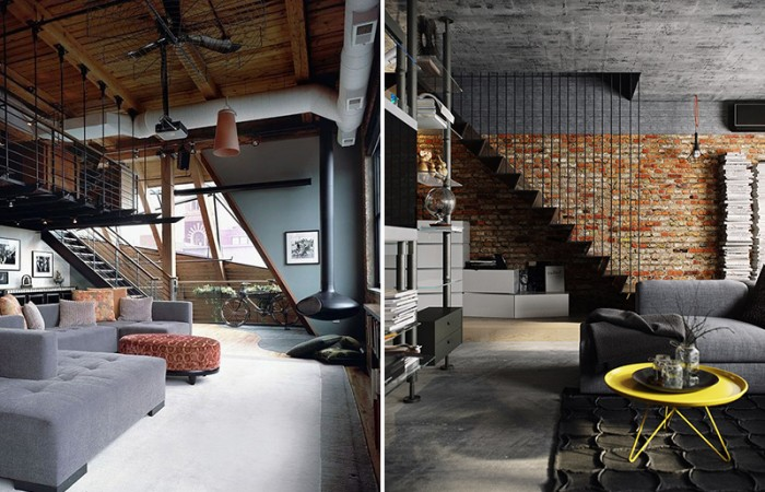 Inspiring Industrial Living Rooms Decordove